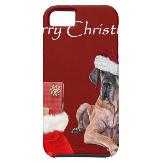 Capa Para iPhone 5 Cão great dane do Natal