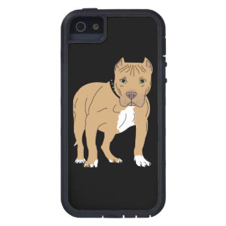 Capa Para iPhone 5 Cão personalizado de Pitbull do americano