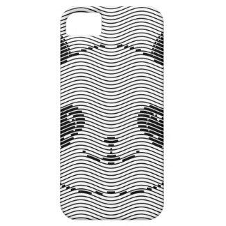 Capa Para iPhone 5 Cara do urso de panda no teste padrão de onda