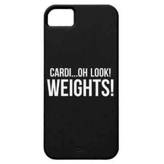 Capa Para iPhone 5 Cardio- contra pesos - exercício engraçado do Gym