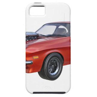 Capa Para iPhone 5 carro vermelho do músculo dos anos 70