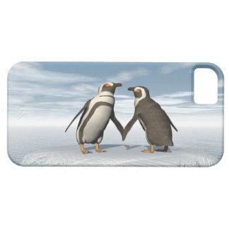Capa Para iPhone 5 Casal dos pinguins