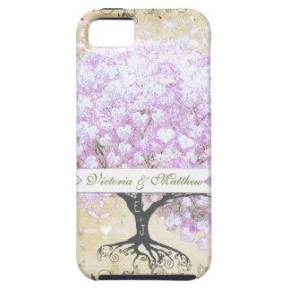 Capa Para iPhone 5 Casamento do pássaro do vintage da árvore da