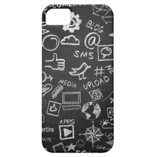 Capa Para iPhone 5 caso da proteção do estilo do quadro-negro