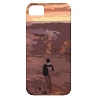 Capa Para iPhone 5 Caso rochoso da paisagem do homem só