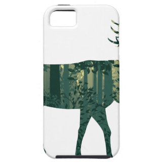 Capa Para iPhone 5 Cervos e paisagem 2 da floresta do abstrato