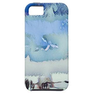 Capa Para iPhone 5 Céu colorido do horizonte do abstrato do azul do