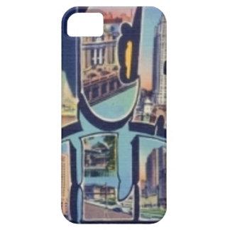 Capa Para iPhone 5 Cidade de Chicago do vintage