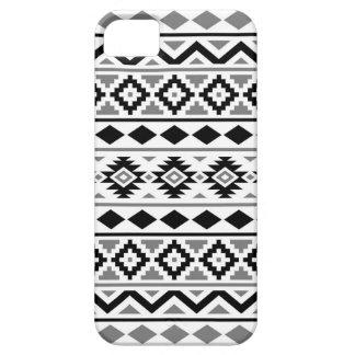 Capa Para iPhone 5 Cinzas brancas pretas do teste padrão III asteca
