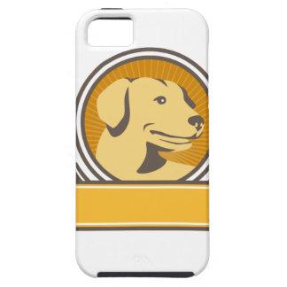Capa Para iPhone 5 Círculo amarelo da cabeça do golden retriever de