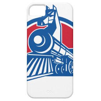 Capa Para iPhone 5 Círculo locomotivo do cavalo de ferro retro