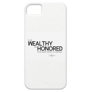 Capa Para iPhone 5 CITAÇÕES: Confucius: Rico e honrado