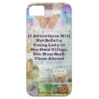 Capa Para iPhone 5 Citações da aventura do viagem de Jane Austen
