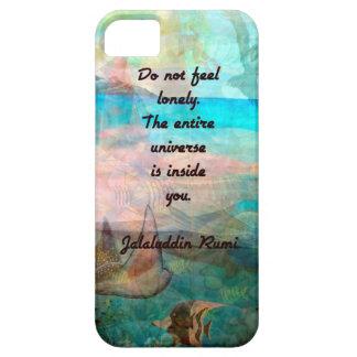 Capa Para iPhone 5 Citações da inspiração de Rumi sobre o universo