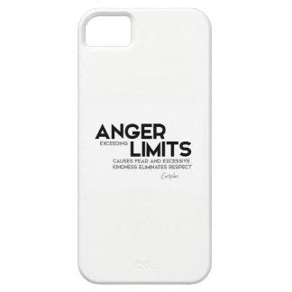 Capa Para iPhone 5 CITAÇÕES: Euripides: Limites da raiva, bondade