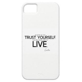 Capa Para iPhone 5 CITAÇÕES: Goethe: Confiança você mesmo