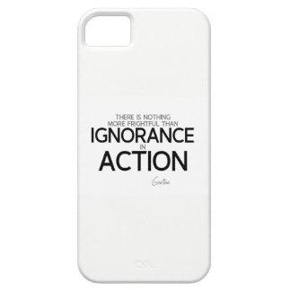 Capa Para iPhone 5 CITAÇÕES: Goethe: Ignorância na ação