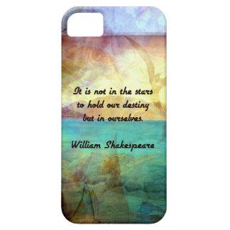 Capa Para iPhone 5 Citações inspiradas de Shakespeare sobre o destino