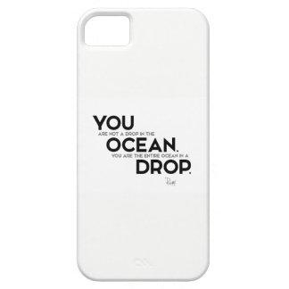 Capa Para iPhone 5 CITAÇÕES: Rumi: Você: oceano inteiro