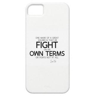 Capa Para iPhone 5 CITAÇÕES: Sun Tzu: Grande soldado