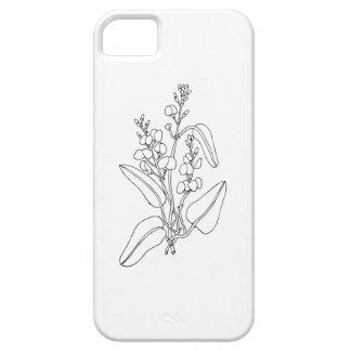 Capa Para iPhone 5 Cobrir de Iphone 5/SE com a flor