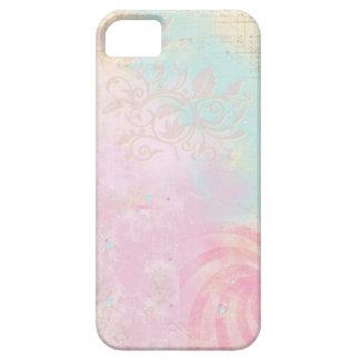 Capa Para iPhone 5 Cobrir do iPhone do rosa Pastel & da cerceta do