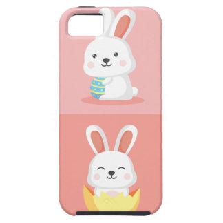 Capa Para iPhone 5 Coelhinhos da Páscoa engraçados bonitos no rosa