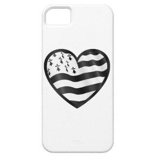 Capa Para iPhone 5 Coração com bandeira de Bretin para dentro