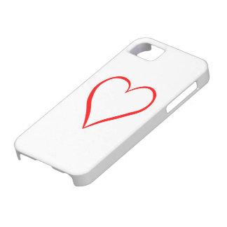 Capa Para iPhone 5 Coração pintado em pano de fundo branco
