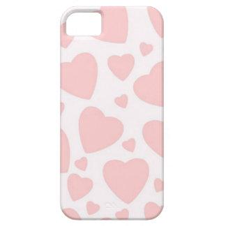 Capa Para iPhone 5 Corações rosas pálido