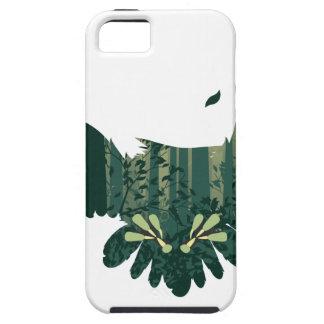 Capa Para iPhone 5 Coruja e paisagem da floresta do abstrato