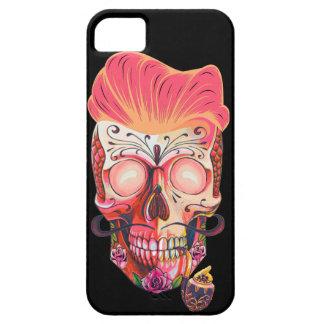 Capa Para iPhone 5 crânio cor-de-rosa