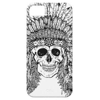 Capa Para iPhone 5 Crânio gótico do estilo tribal com gráfico da