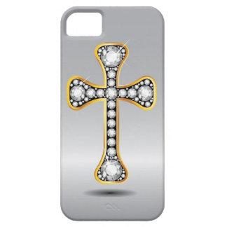 """Capa Para iPhone 5 Cruz cristã com as pedras do """"diamante"""""""