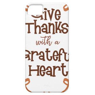 Capa Para iPhone 5 Dê obrigados com um coração grato