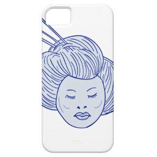 Capa Para iPhone 5 Desenho da cabeça da menina de gueixa