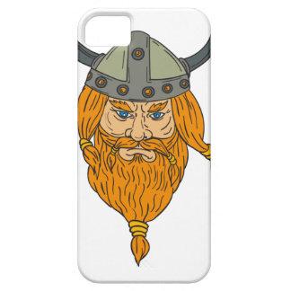 Capa Para iPhone 5 Desenho da cabeça do guerreiro de Viking do