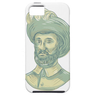 Capa Para iPhone 5 Desenho do busto de Juan Sebastian Elcano