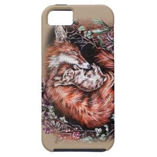 Capa Para iPhone 5 Desenho do Fox vermelho e da arte animal e dos