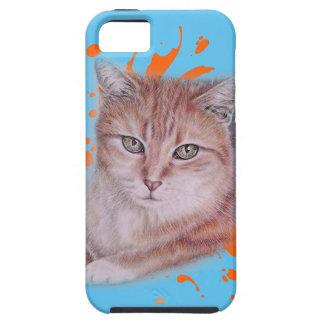 Capa Para iPhone 5 Desenho do gato e da pintura alaranjados de gato