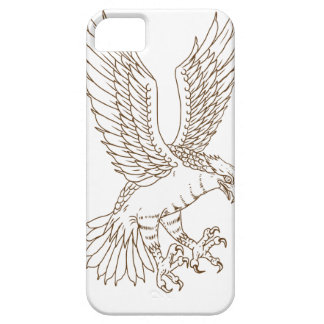 Capa Para iPhone 5 Desenho Swooping do Osprey