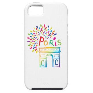Capa Para iPhone 5 Design de néon de Paris France   Arco do Triunfo  