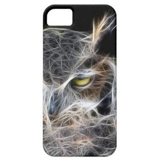 Capa Para iPhone 5 design do fractal da coruja