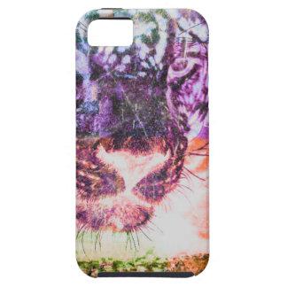 Capa Para iPhone 5 Design do gato de Jaguar do arco-íris