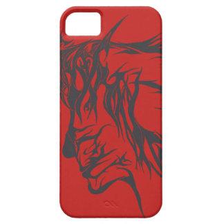 Capa Para iPhone 5 Design facial abstrato (caso)