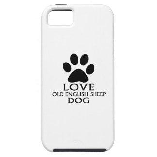 Capa Para iPhone 5 DESIGN INGLÊS VELHO do cão de CARNEIROS do AMOR
