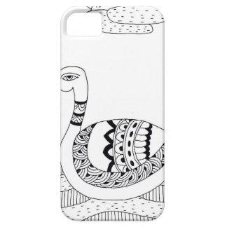 Capa Para iPhone 5 Doodle preto e branco da cisne