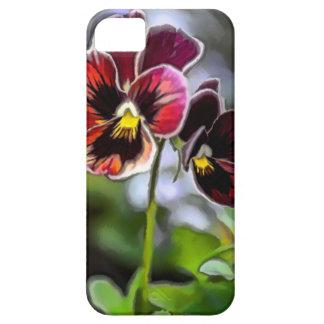 Capa Para iPhone 5 Duo da flor do amor perfeito do Bordéus
