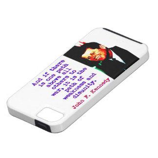 Capa Para iPhone 5 E se há um trajeto - John Kennedy