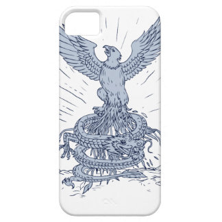 Capa Para iPhone 5 Eagle e tiragem das montanhas do dragão